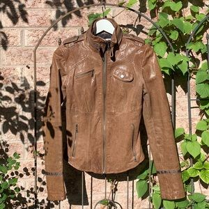 DANIER Leather Brown Willow Jacket